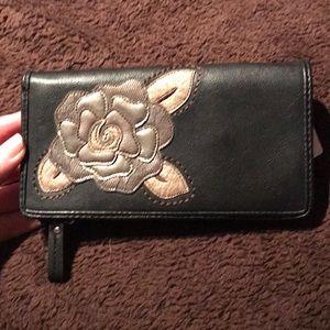 3/$20 Black checkbook wallet